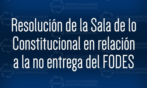 Resolución de Sala Amparo FODES